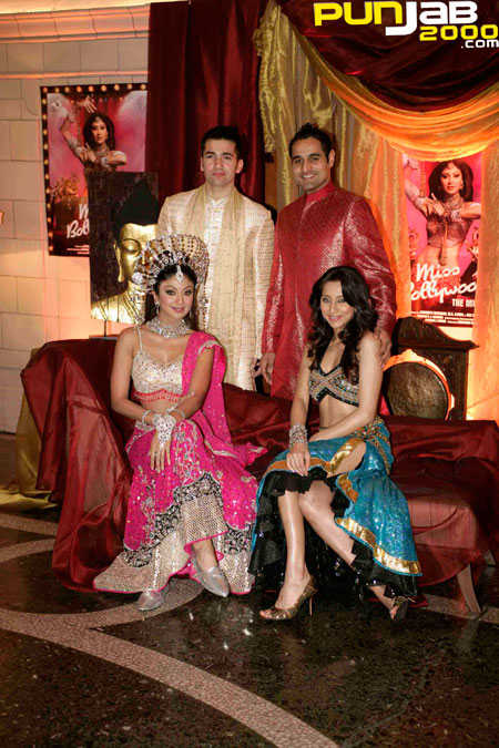 (Back) Wayne Perrey & Nicholas Brown (front) Shilpa Shetty & Anusha Dandekar