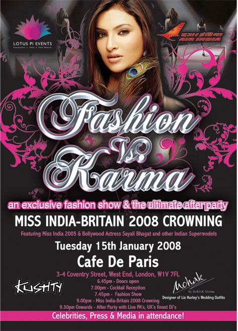 Miss India-Britain 2008 Crowning & 'Fashion Vs Karma' Fashion Show