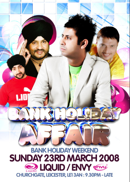 Bank Holiday Affair @ Liquid & Envy Leicester
