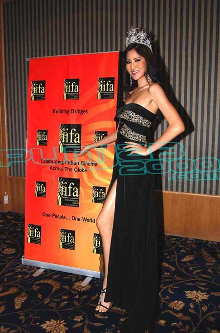 Miss Thailand Universe at the IIFA Fashion Extravaganza PC  in Bangkok