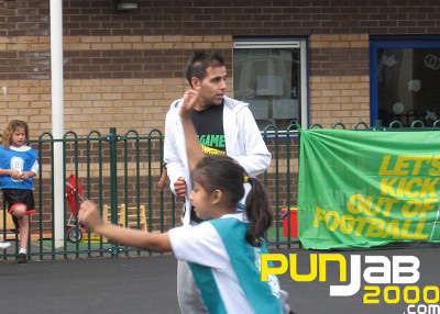 H Dhami helps Kick It Out 4 One Game One Community