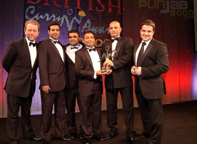 Jon Culshaw, Nahim Alsam and guests from Indian Ocean Restaurant in Lancashire (Winner North West Region) and Patrick Corr - STAR TV Vice President, Distribution & Sales (Europe)