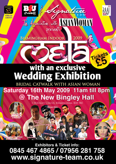 B4U & Signature Team with Asian Woman presents Birmingham Indoor Mela 2009