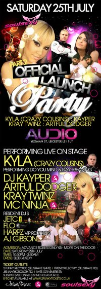 Soul Sexy Present Kyla Kayper Kray Twins And Artful Dodger At Audio