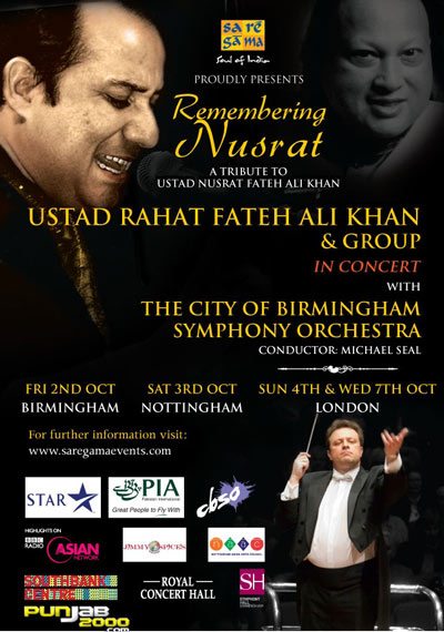 Pictures From Rahat Fateh Ali Khan With The CBSO