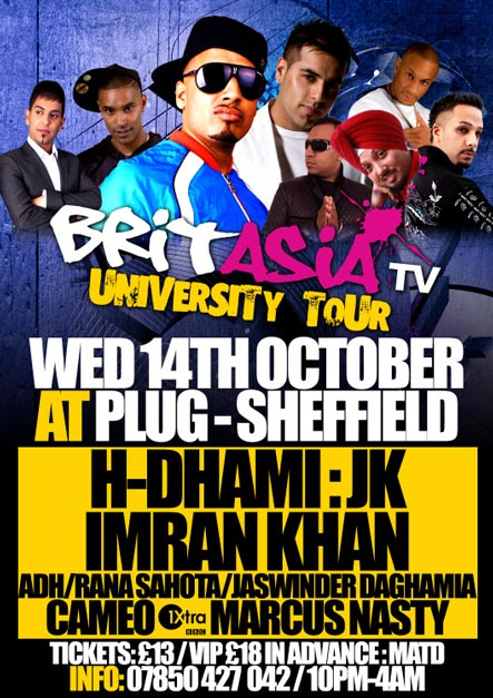 BRITASIA UNIVERSITY TOUR WEDS 14TH OCT SHEFFIELD
