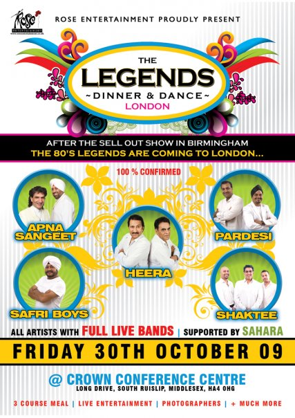 Pictures From The THE LEGENDS - DINNER & DANCE - LONDON