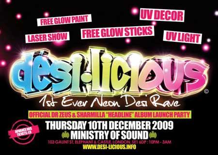 Desi-Licious - First Ever Desi Neon Rave
