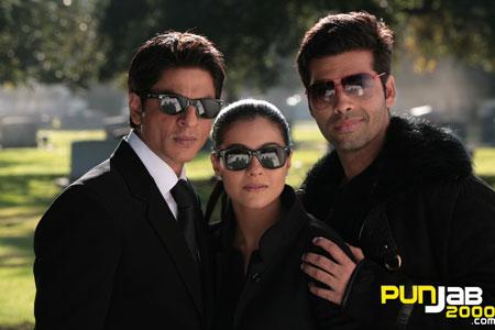 Shah Rukh Khan, Kajol & Karan Johar on the sets of My Name Is Khan