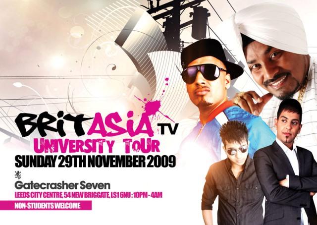 BRIT ASIA TV UNIVERSITY TOUR