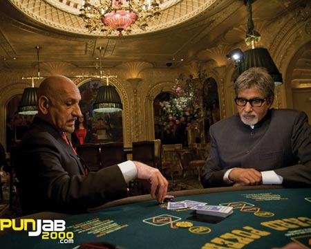 "AMITABH BACHCHAN TAKES A TRIP DOWN MEMORY LANE ON THE SETS OF ""TEEN PATTI"""