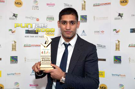 Boxing Sensation Amir Khan and a host of new sporting stars celebrate wins at the Change4Life British Asian Sports Awards 2010