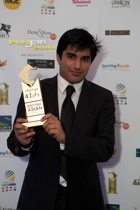 Jesse Mander Winner of the Change4Life British Asian Sports Awards Junior Sports Personality of the Year