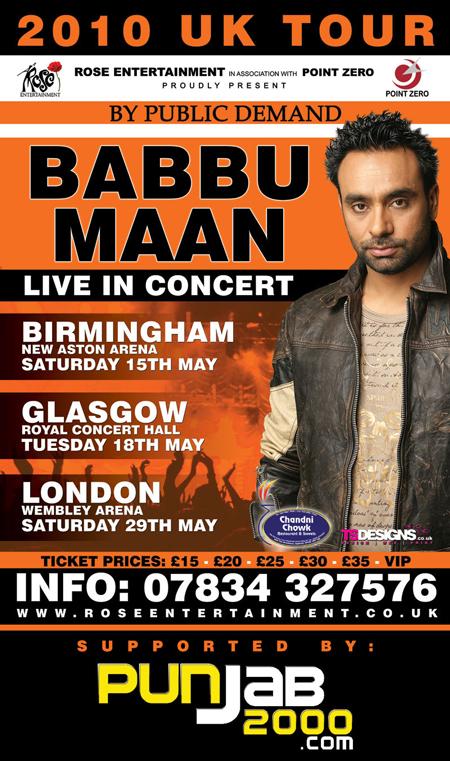 Babbu Maan UK Tour 2010