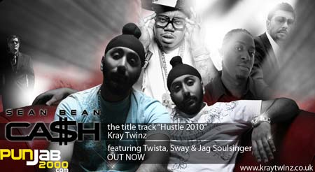 THE KRAY TWINZ RELEASE THE TITLE TRACK FOR NEW SEAN BEAN MOVIE 'CA$H' FEATURING, US RAPPER TWISTA, UK RAPPER SWAY AND BRITISH SINGER JAG SOULSINGER.