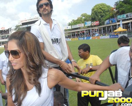 Bipasha Basu and Kunal Kapoor at the IIFA Celebrity Cricket Match