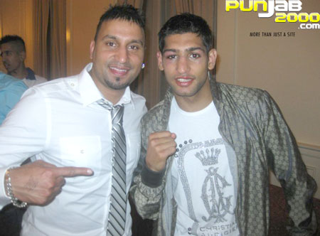 Maz and Amir Khan after the fight