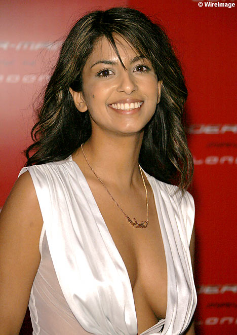 Konnie Huq on the Red carpet for the Premier of Spiderman 3