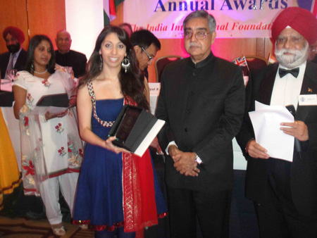 Natasha Mudhar with HE Nalin Surie, Indian High Commissioner, Mr Hardyal S Luther