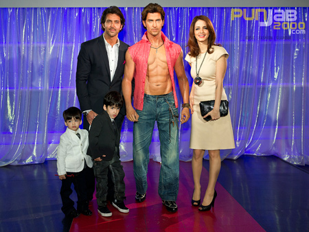 Bollywood Superstar, Hrithik Roshan, Unveils his Wax Figure at Madame Tussauds, London