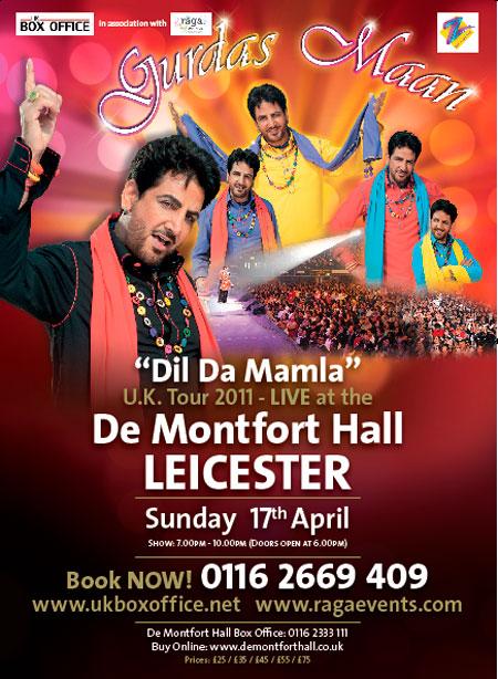 Gurdas Maan - Dil Da Mamla U.K Tour 2011 @ Demontfort Hall - Leicester