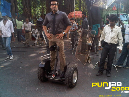 Sanjay Dutt ensures 'Double Dhamaal' on set with his Segway!