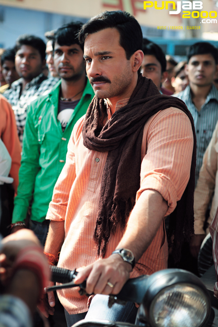 Saif Ali Khan's 'Basanti' on the Sets of 'Aarakshan'