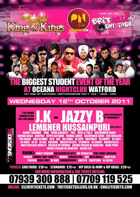 KING OF KINGS - PHATNIGHTS - BRITASIA UNI TOUR!