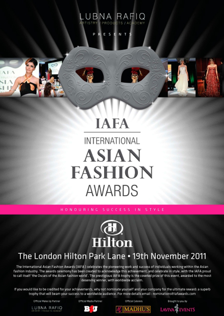Pictures from the International Asian Fashion Awards (IAFA)