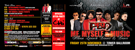 ASIANBALL.COM presents PBN 'ME MYSELF & MUSIC' ALBUM LAUNCH DINNER & DANCE