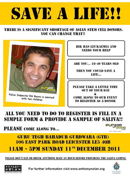 Rik Basra -Save A Life Campaign