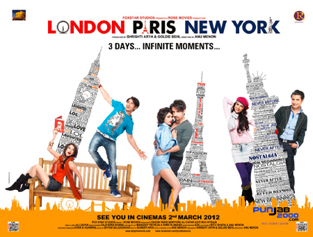 WIN: CD Music Soundtrack from Bollywood's New Romantic Comedy London Paris New York  Composed by Ali Zafar