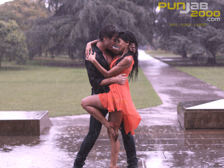 Cast dance in real downpour on the sets of 'BollyBrit' film, Naachle London