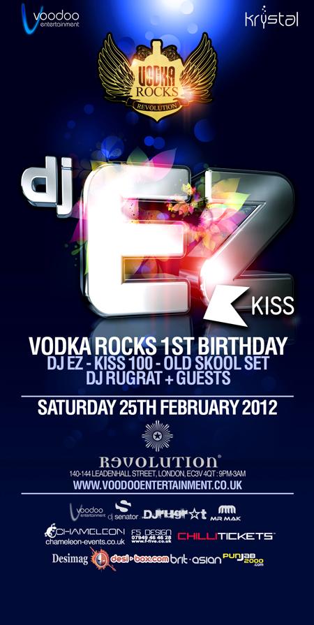 Vodka Rocks 1st Birthday – Dj Ez Old Skool Set - Sat 25th February