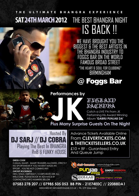 KARMA UK in association with DOLLAR ENTERTAINMENTS presents JK