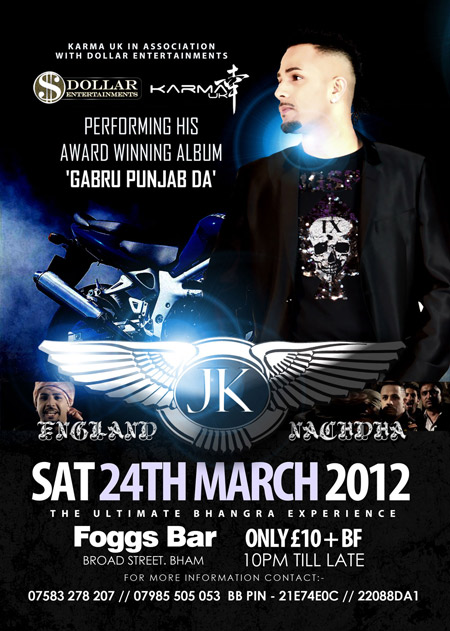 KARMA UK in association with DOLLAR ENTERTAINMENTS presents JK