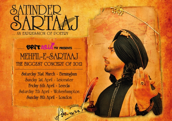 Satinder Sartaaj Photos from the Leicester concert