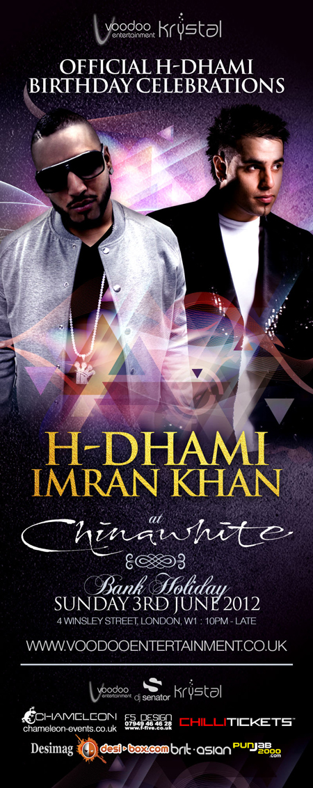 IMRAN KHAN and H DHAMI B'day Celebration CHINA WHITE june 3rd
