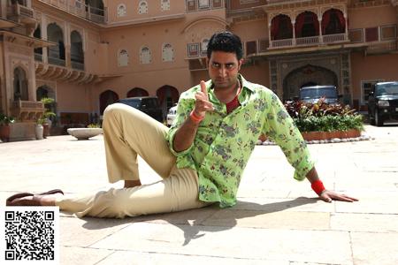 Abhishek Bachchan as Abhishek Bachchan/Abbas Ali in 'Bol Bachchan', a FOX STAR STUDIOS presentation, produced by Ajay Devgn films and Shree Ashtavinayak Cine Vision Ltd. Director Rohit Shetty. Director of Photography Dudley