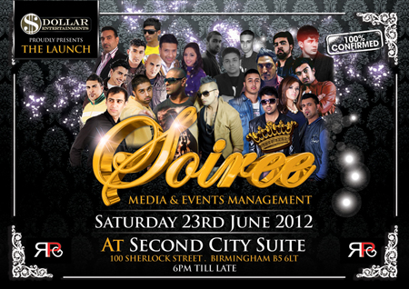 DOLLAR ENTERTAINMENT PROUDLY PRESENTS Soiree Media & Events Managemnt
