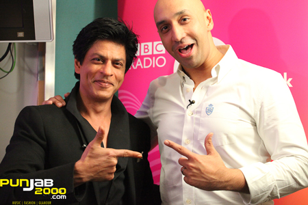 Shah Rukh Khan with BBC Asian Network Tommy Sandhu