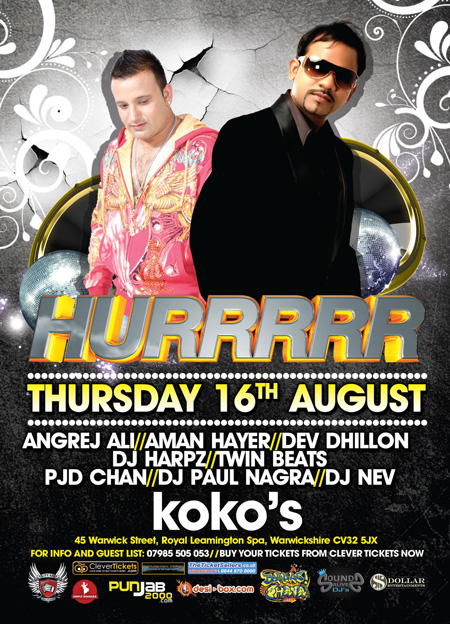 HURRRR - The 1st Ever Bhangra Night in Leamington Spa