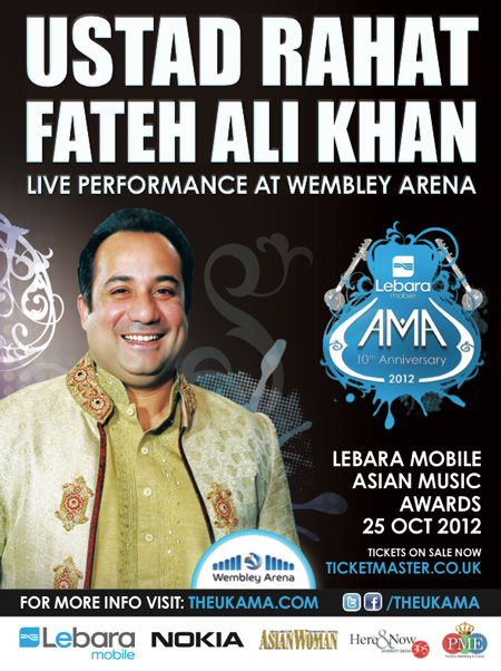 USTAD RAHAT FATEH ALI KHAN ANNOUNCED AS HEADLINE ARTIST AT 10th THE LEBARA MOBILE ASIAN MUSIC AWARD