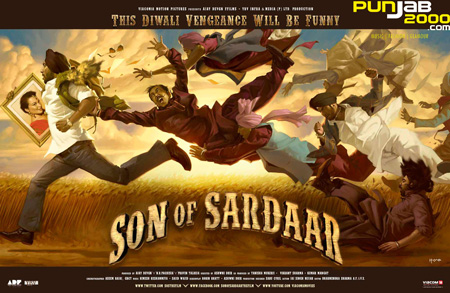 Bollywood Superstar, Ajay Devgn, takes time out from his holiday to launch first Theatrical Trailer of Son of Sardaar