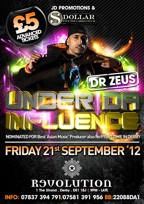DR ZEUS & LIL' AMIT - FRIDAY 21ST SEP DERBY