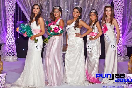 Miss India UK London Winners - Left to Right Nimisha Mehta - Henika Patel - Anu Sihota - Puja Goyal - Nargis Javany