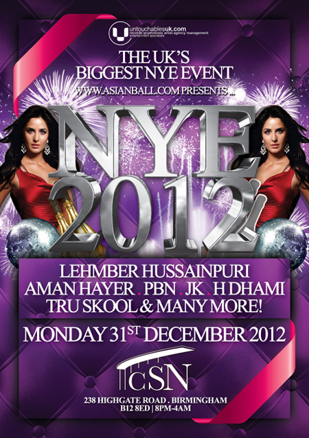 UntouchablesUK.COM Presents NEW YEARS EVE ASIANABALL.COM