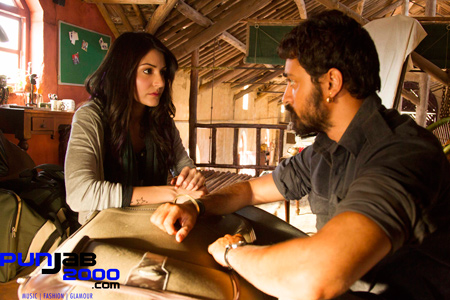 : Imran Khan as 'Matru' and Anushkaa Sharma as 'Bijlee' in 'Matru Ki Bijlee Ka Mandola', a FOX STAR STUDIOS presentation, produced by Vishal Bharadwaj Films. Director – Vishal Bharadwaj. Director of Photography – Kartik Vijay Thyagarajan.