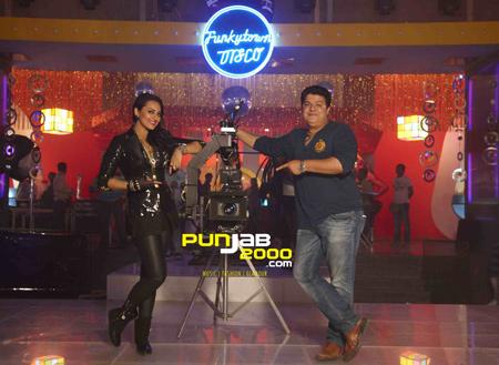 Sonakshi Sinha and Sajid Khan during the song 'Thank God Its Friday' from Himmatwala1