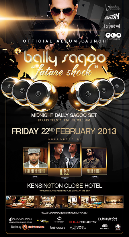 Voodoo Ents present Bally Sagoo's Future Shock Album Launch